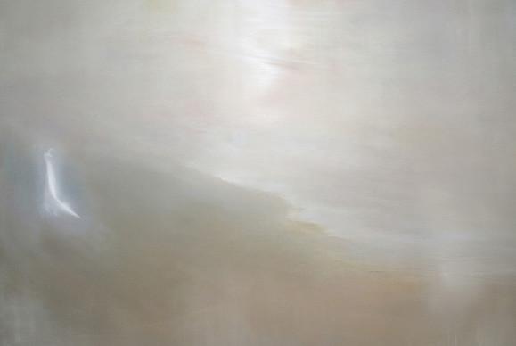 Haalea vaaleanharmaa minimalistinen maalaus.