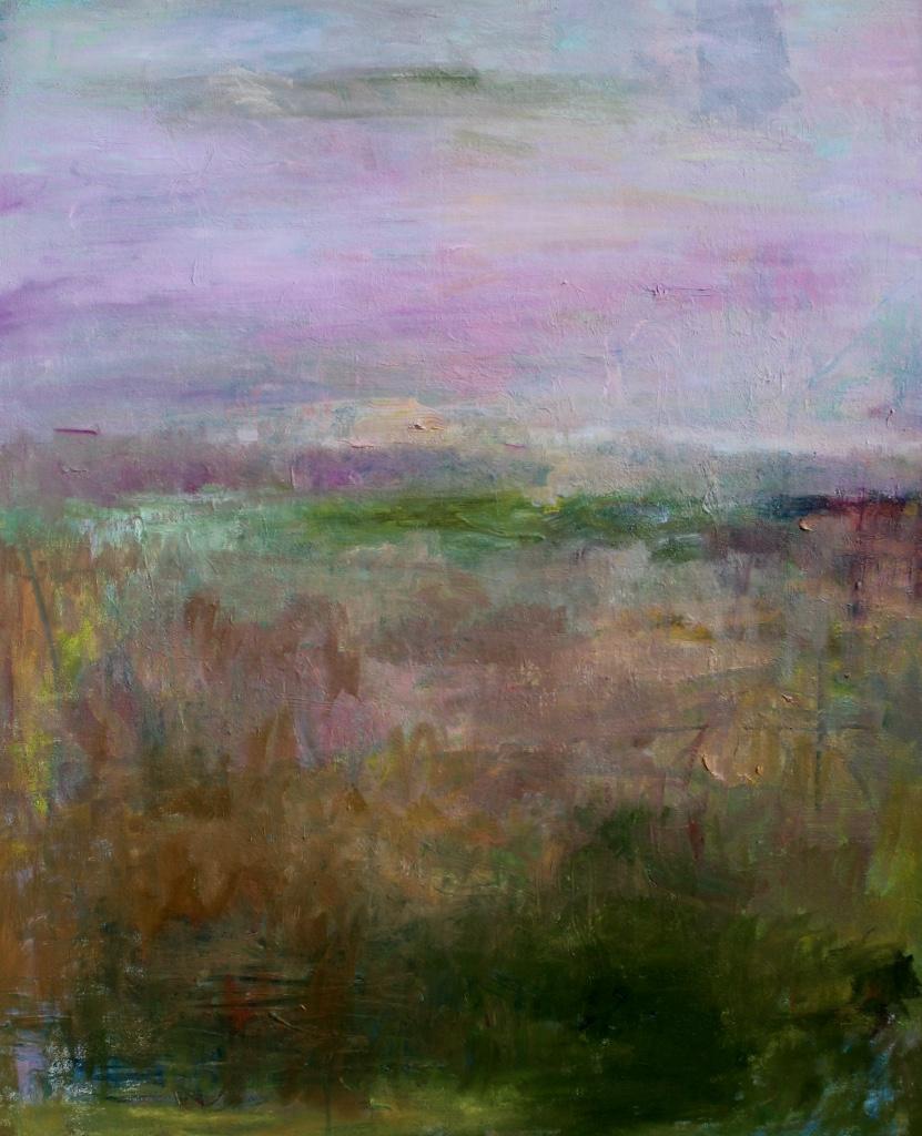Kirjava abstrakti maalaus.