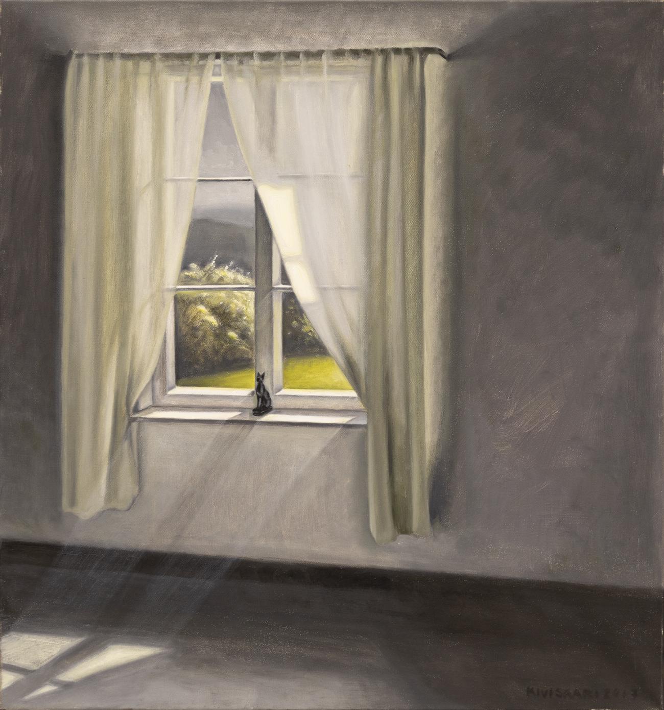 Kissa ikkunalla