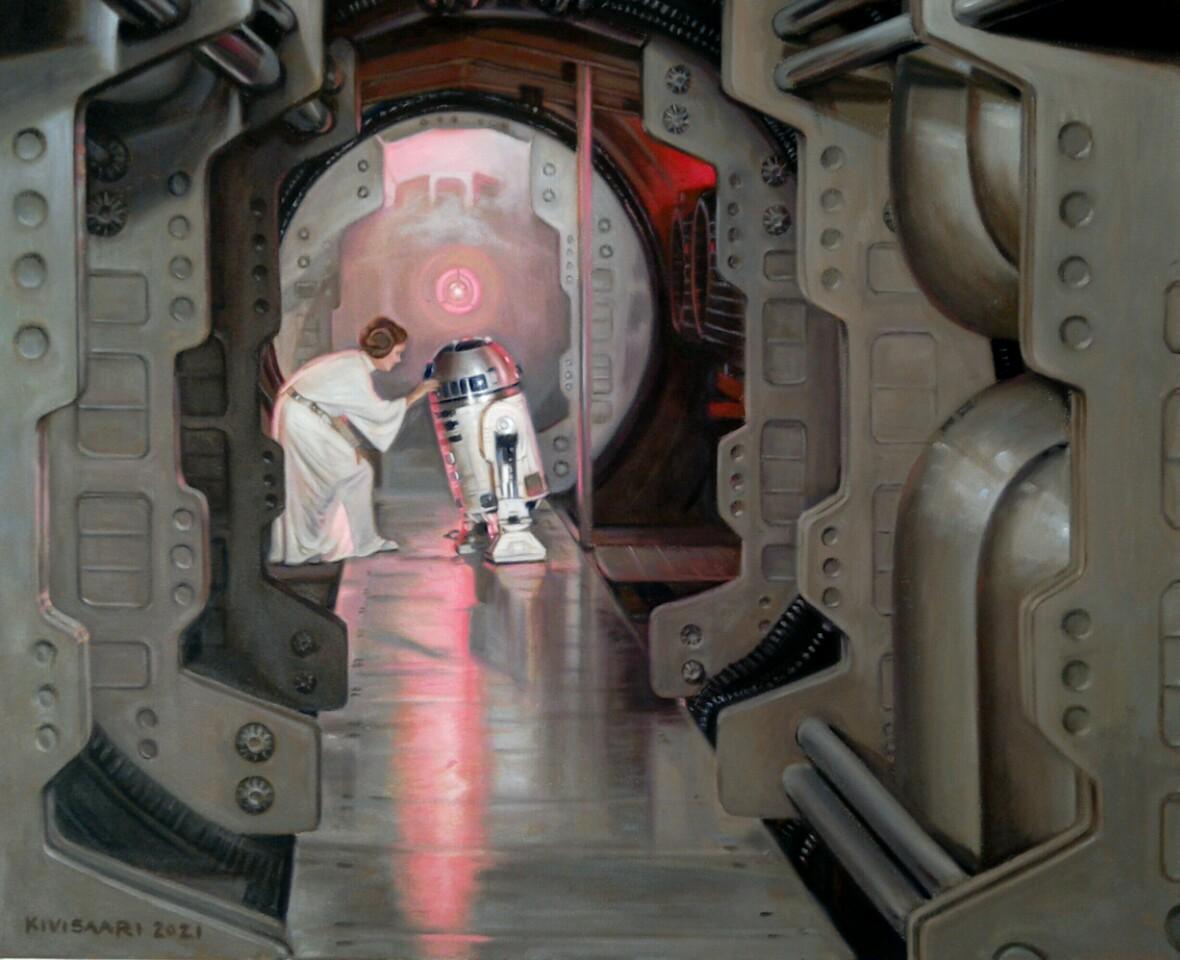 Leia & R2 D2